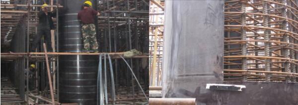 نصب نوار فولادی بر روی قالب بتنی