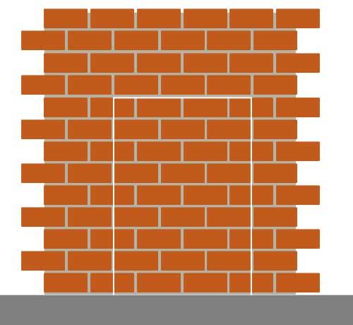 جایی که در دیوار الوار را قرار داده اید با ملات علامت گذاری کنید